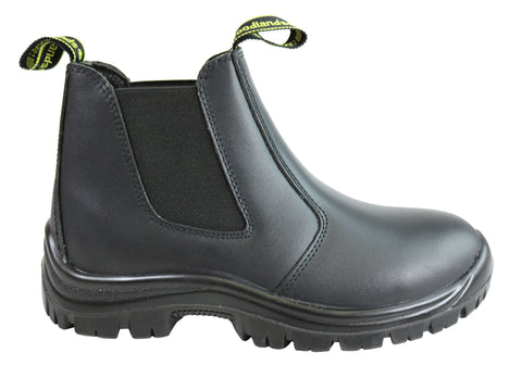 Woodlands Handyman Mens Non Steel Toe Leather Pull On Work Boots