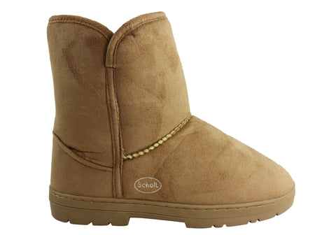 Scholl Orthaheel Supple Womens Warm Comfortable Indoor Boots
