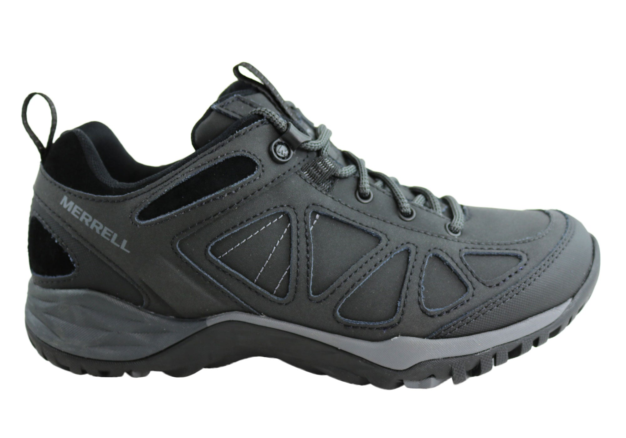 7b6332e02f5a Home Merrell Siren Q2 Leather Waterproof Comfort Womens Hiking Shoes. Black  ...
