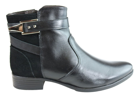Dazzani Kimberly Womens Comfortable Leather Ankle Boots Made In Brazil