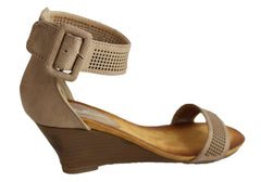 Bellissimo Lava Womens Comfortable Fashion Mid Heel Wedge Sandals