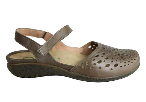 Naot Arataki Womens Closed Toe Orthotic Friendly Leather Flat Sandals