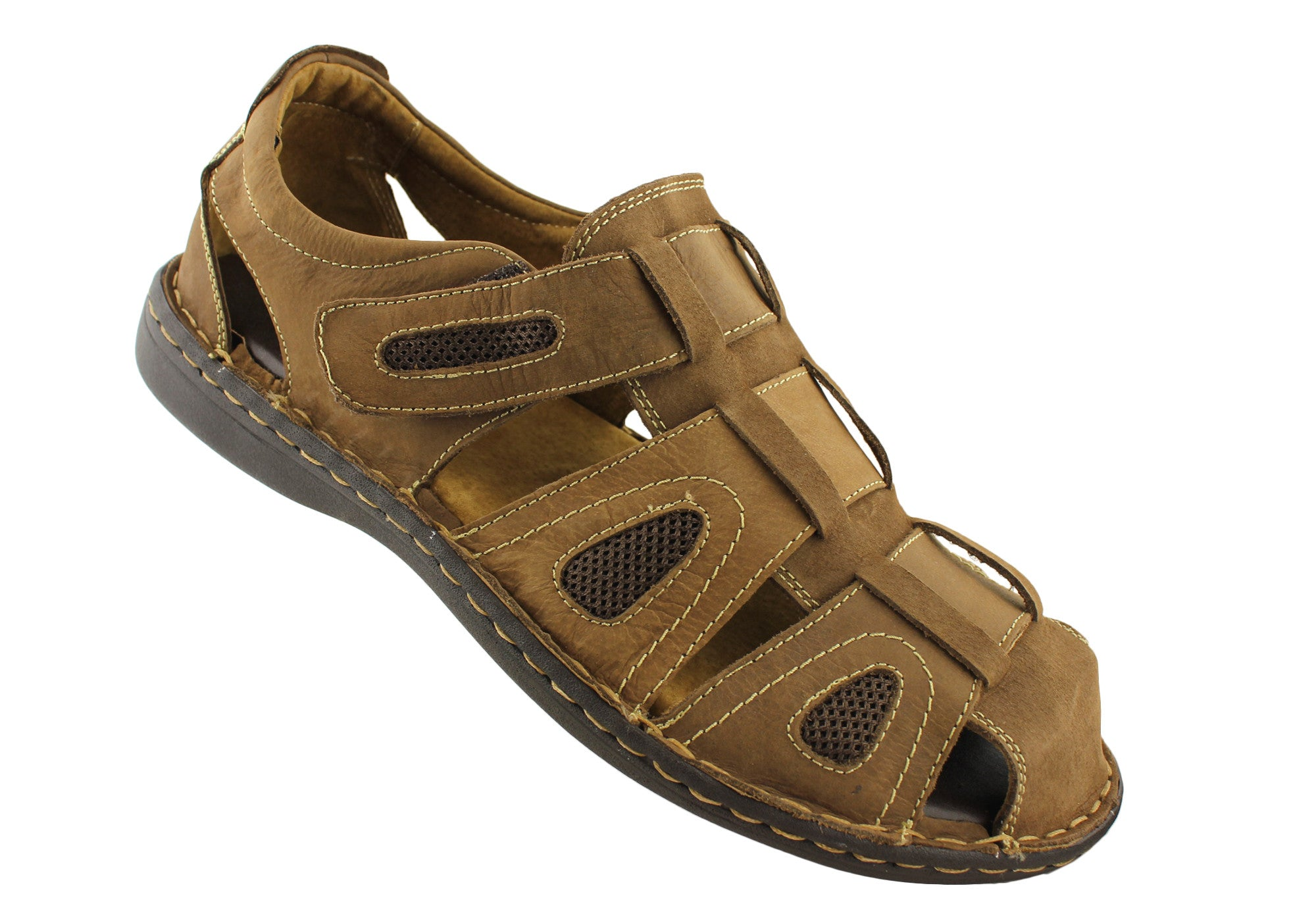 Slatters Nerang Mens Leather Sandals