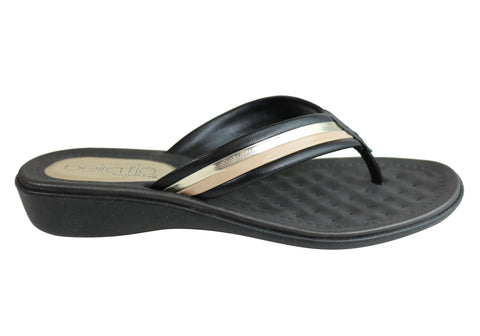 Beira Rio Sunrise Womens Cushioned  Thongs Flip Flops Made In Brazil