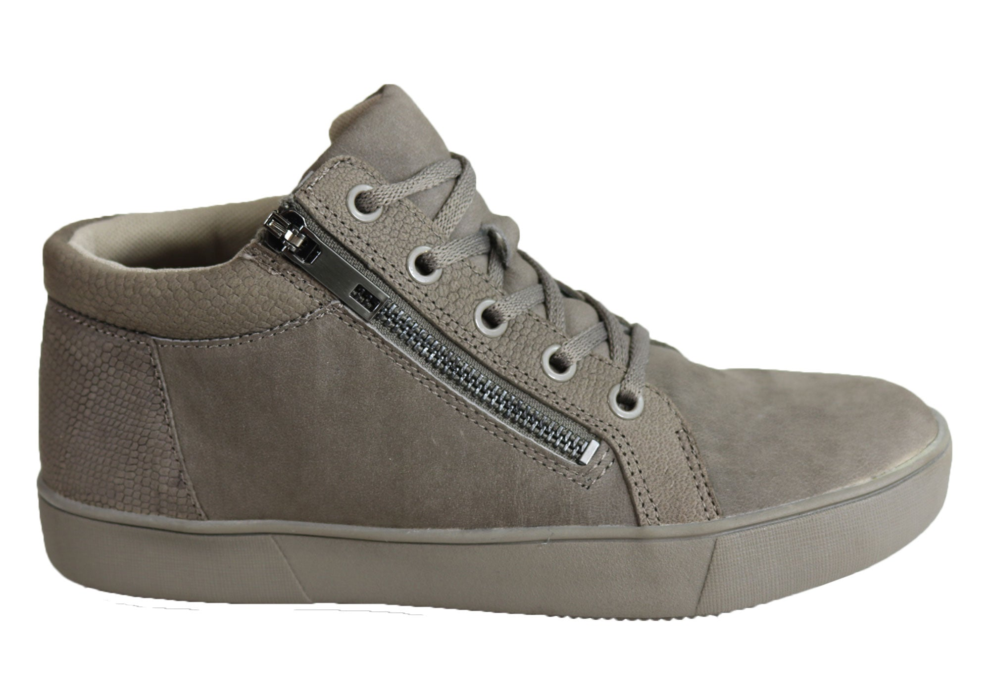 3665da80ea5c Home Naturalizer Motley Womens Comfortable Leather Lace Up Flat Ankle Boots.  Modern Grey ...