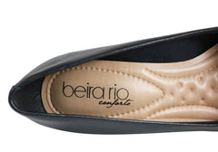 Beira Rio Lucie Womens Cushioned Comfort Wedge Shoes Made In Brazil