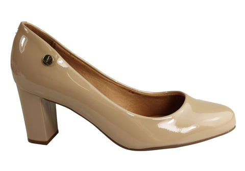 Vizzano Elaine Womens Comfortable Cushioned Block Heel Pumps Heels