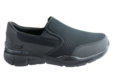 Skechers Mens Equalizer 3.0 Bluegate Extra Wide Fit Memory Foam Shoes