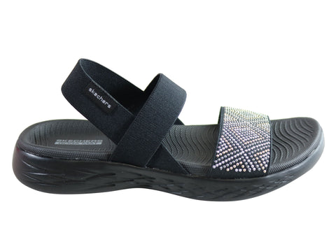 Skechers Womens On The Go 600 Glitzy Comfortable Sandals
