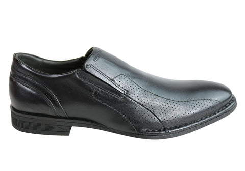 Ferracini Logan Mens Leather Slip On Dress Shoes Made In Brazil