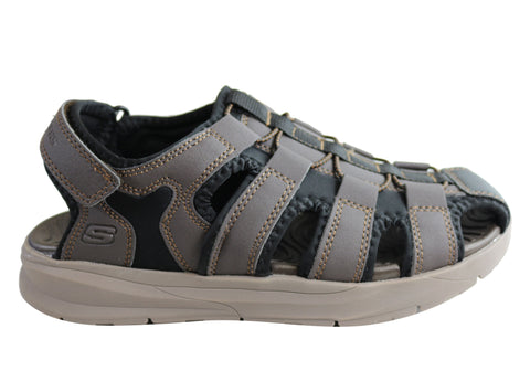 Skechers Mens Relone Henton Relaxed Fit Memory Foam Comfort Sandals