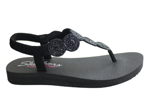 Skechers Womens Meditation Stars & Sparkle Comfortable Sandals