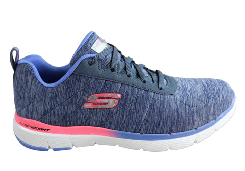Skechers Womens Flex Appeal 3.0 Fan Crazy Memory Foam Athletic Shoes