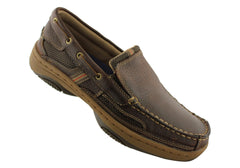 Slatters Captain Mens Leather Casual Slip On Shoes