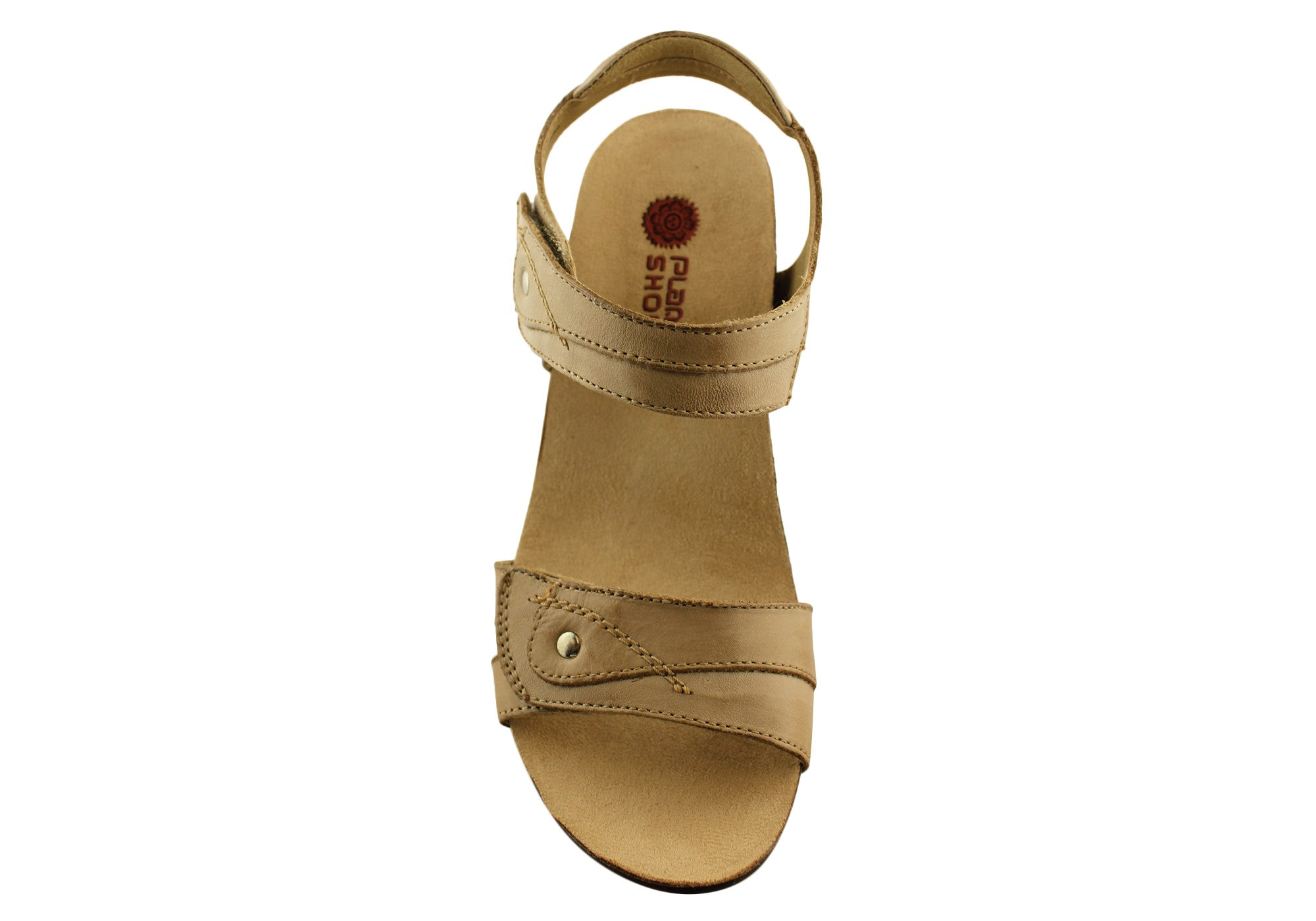 Planet Shoes Parle Womens Leather Comfort Wedge Sandals