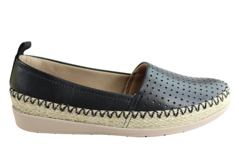 Usaflex May Womens Comfort Leather Espadrille Shoes Made In Brazil