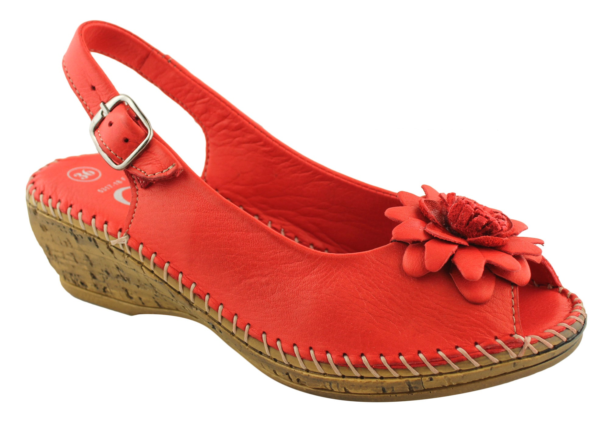 Cabello Comfort Womens Soft Leather Handmade Sandals