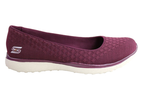 Skechers Microburst One Up Womens Memory Foam Flats