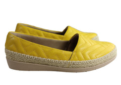 Usaflex April Womens Comfort Leather Espadrille Shoes Made In Brazil