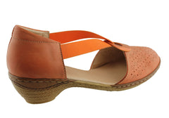 Cinnamon Candy Womens Leather Heel Sandals