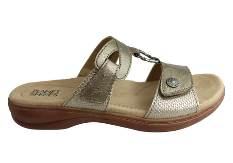 Planet Shoes Debra Womens Comfortable Slides Sandals With Arch Support