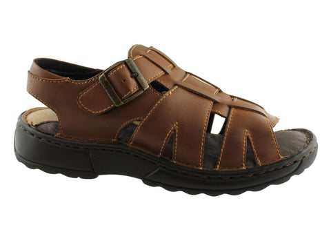 Slatters Tempo Mens Comfortable Leather Sandals