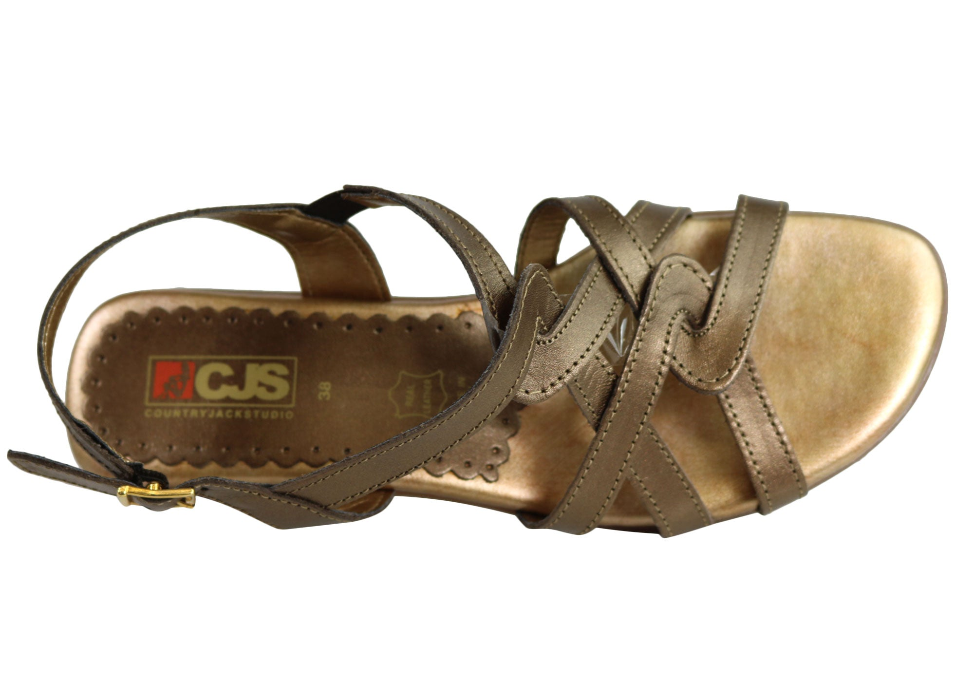Country Jacks P872 Womens Leather Comfort Sandals MADE IN ITALY