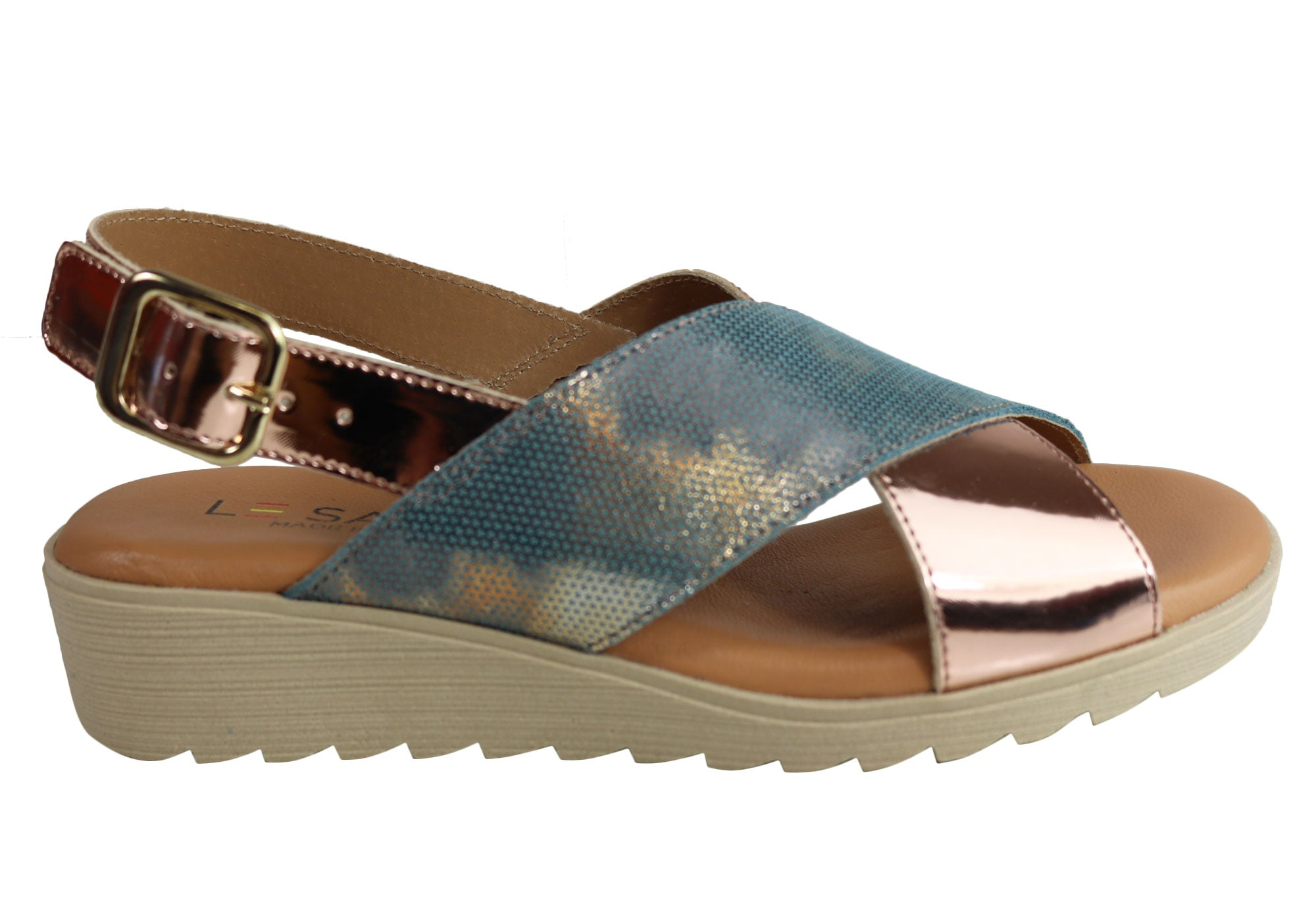 f3f448bfd7f New Le Sansa By Cc Resorts Paris Womens Leather Sandals Made In ...