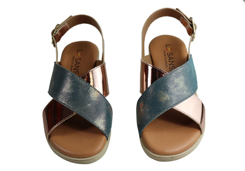 NEW LE SANSA BY CC RESORTS PARIS WOMENS LEATHER SANDALS MADE IN SPAIN