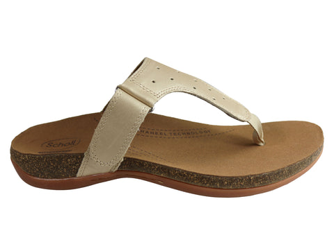 Scholl Orthaheel Anchor Womens Comfort Sandals Thongs With Support