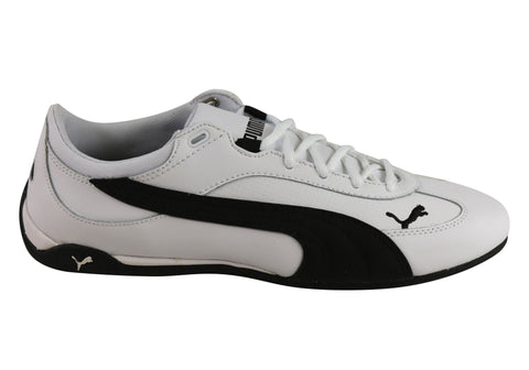 Puma Fast Cat Leather Low Profile Lace Up Casual Shoes