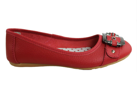 Bellissimo Meredith Womens Soft Leather Ballet Flats