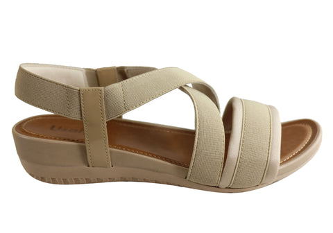 Usaflex Ambrosa Womens Comfortable Cushioned Sandals Made In Brazil