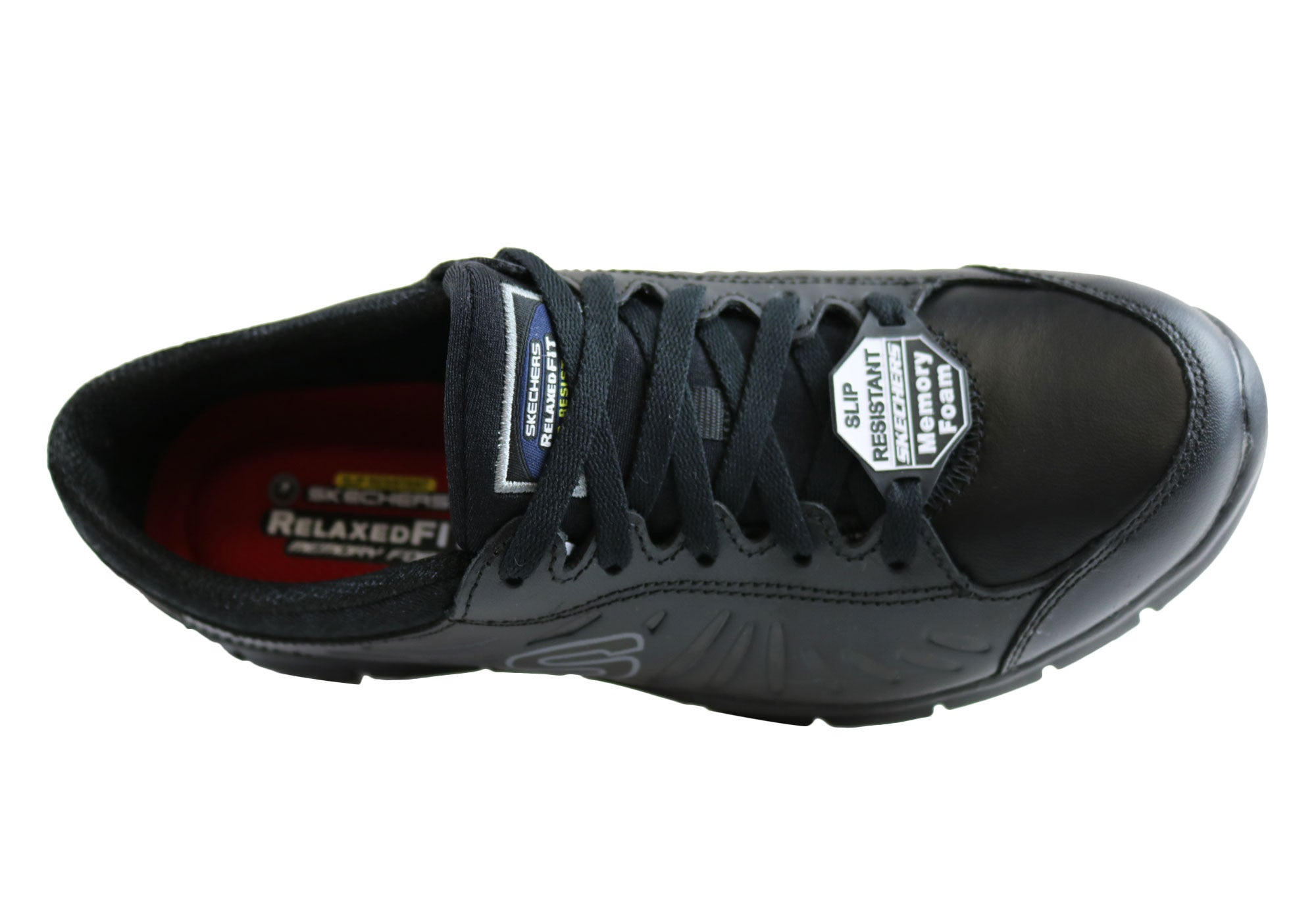 Skechers Eldred Womens Lace Up Slip Resistant Shoes