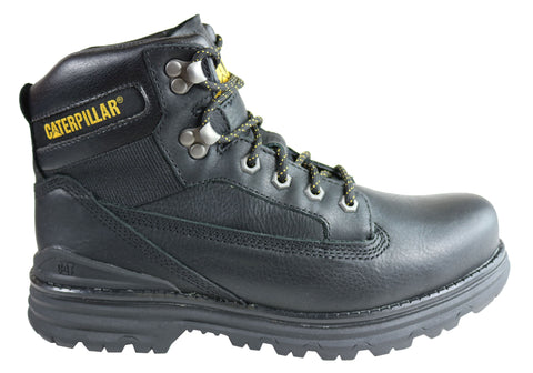 Caterpillar Baseplate Mens Leather Comfortable Lace Up Boots