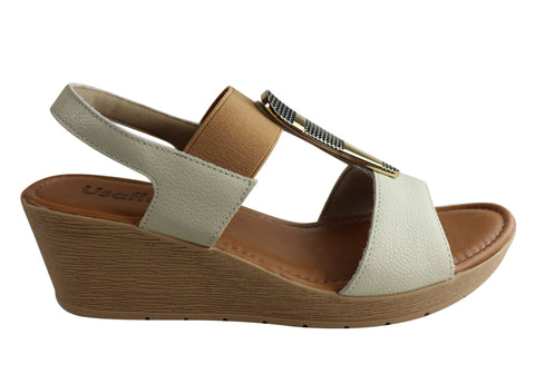 Usaflex Analise Womens Comfort Cushioned Wedge Sandals Made In Brazil