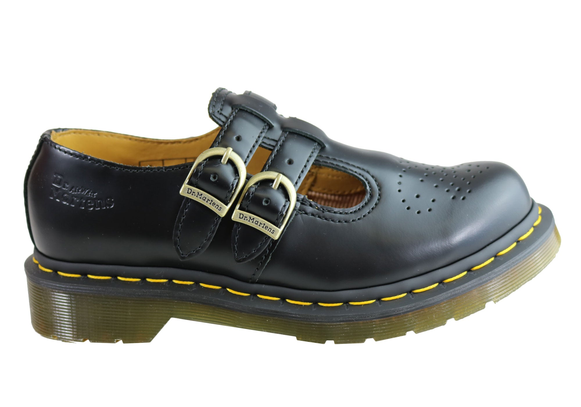 2ae866f4bbda Home Dr Martens Womens 8065 Mary Jane Comfortable Leather Shoes. Black  Smooth ...