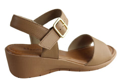 Usaflex Maple Womens Comfort Cushioned Wedge Sandals Made In Brazil