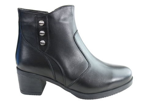 Orizonte Scarla Womens European Comfortable Leather Ankle Boots