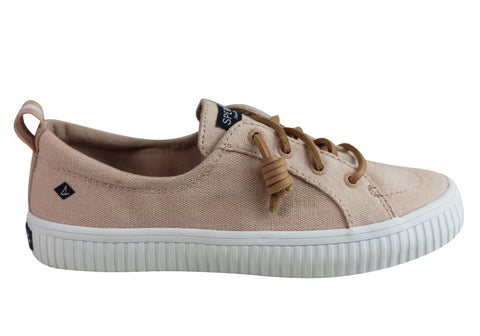 Sperry Womens Comfort Fashion Crest Vibe Creep Linen Sneaker
