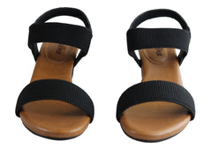 Usaflex Encino Womens Brazilian Comfortable Cushioned Mid Heel Sandals