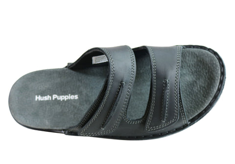 dc6879dd660a Hush Puppies Warrior Mens Comfortable Leather Slip On Sandals ...