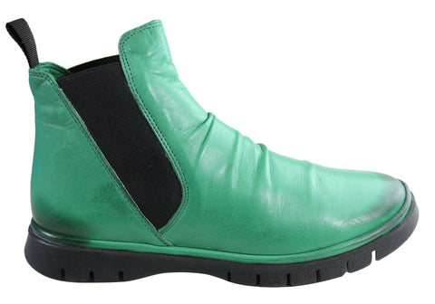 Orizonte Merk Womens European Comfortable Leather Ankle Boots