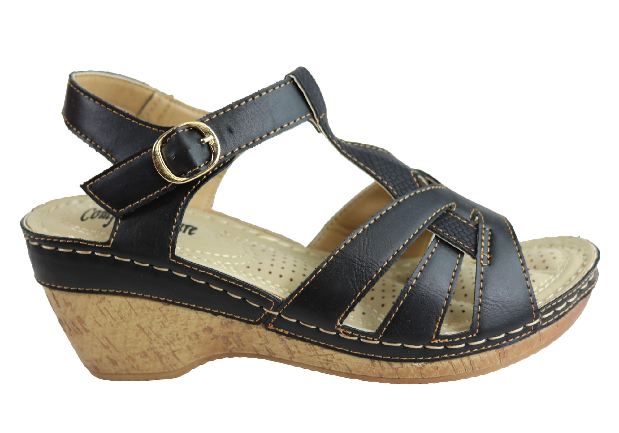 a03ef48fd2 Comfort Leisure Fritz Womens Comfortable Wedge Sandals | Brand House ...