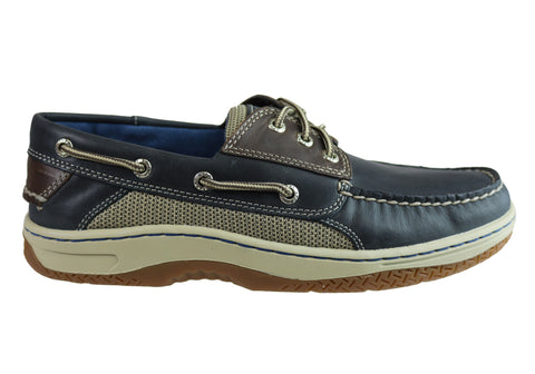 Sperry Mens Billfish Comfortable Wide Width Leather Boat Shoes