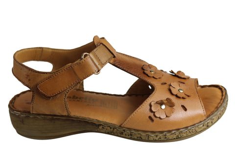 Cabello Comfort RE1562 Womens European Leather Comfortable Sandals
