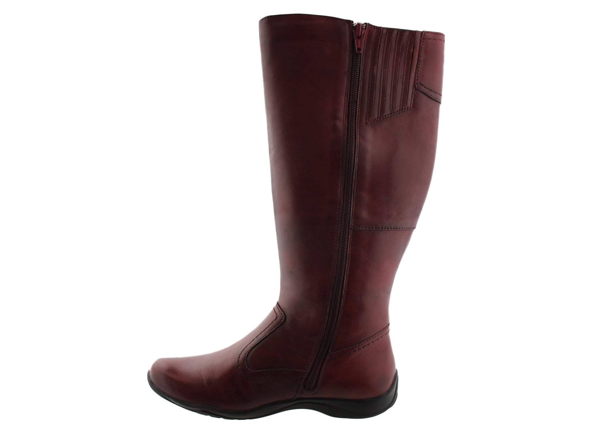 Planet Shoes Spire 2 Womens Leather Flat Heel Knee High Boots