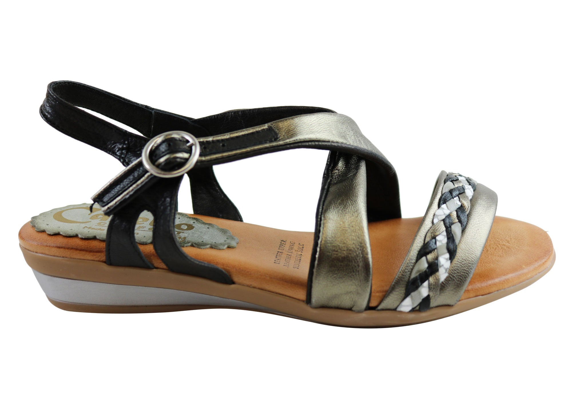 633ef7834b1 Cabello Comfort 3716 Womens Leather Sandals Made In Spain