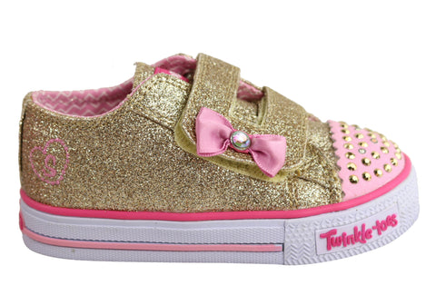 Skechers S Lights Shuffles Darling Daisy Toddler Girls Light Up Shoes