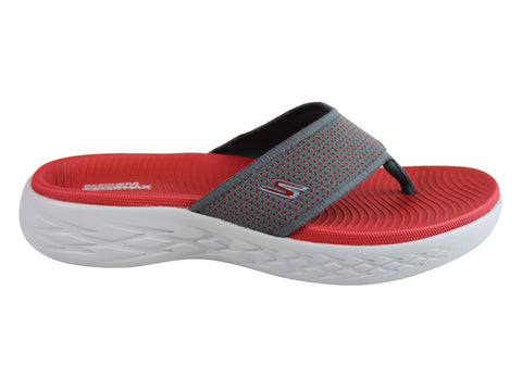 Skechers On The Go 600 Mens Comfortable Cushioned Thongs Flip Flops
